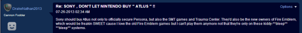 sadas 600x67 Humor: Sony Fans Mistake Fire Emblem as an Atlus I.P.