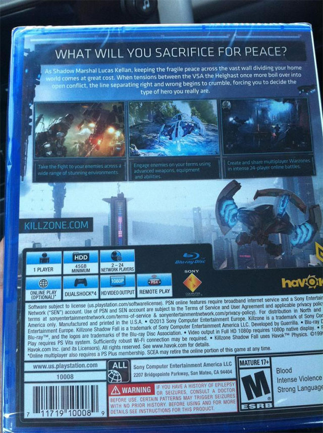 PS4 Launch Game Killzone Shadow Fall is Out Now at Local ...