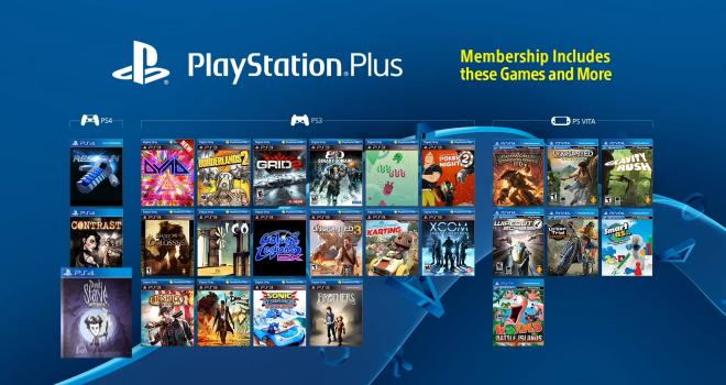 playstation plus list of free games