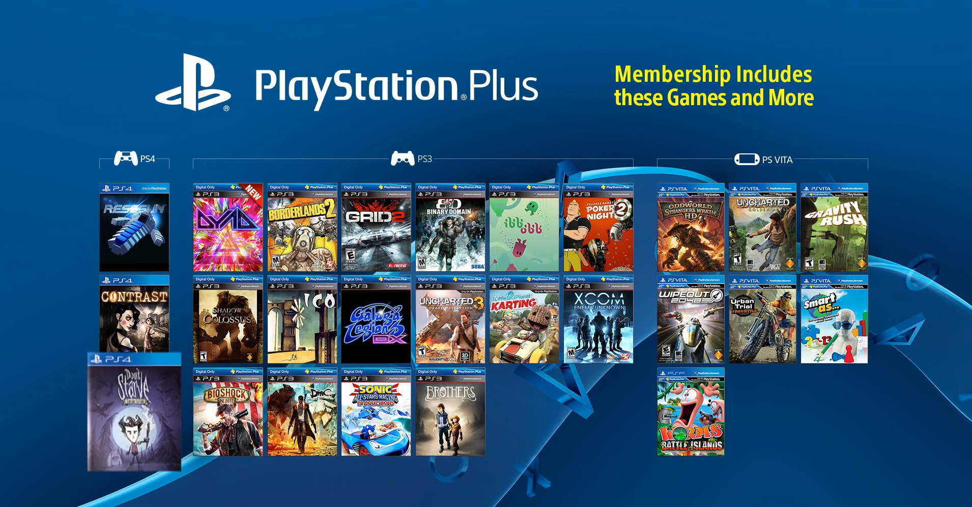 play station plus free games